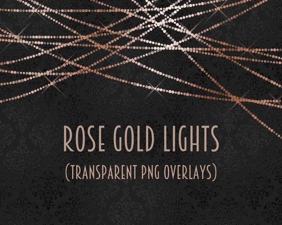 Rose Gold Light Overlays Rose Gold Light Clipart Twinkle