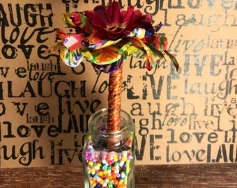 Flower Pen Garden mini solo bouquet - guest office wedding pen and holder