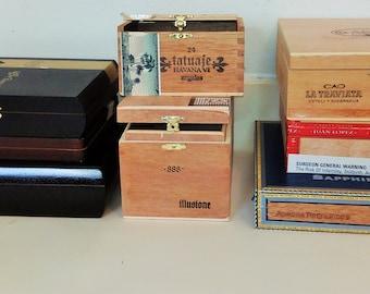 Wooden Cigar Box - Choose 1 Empty Cigar Boxes
