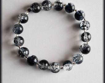 iridescent glass beads bracelet