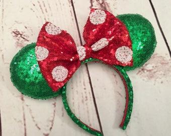 Classic Christmas Minnie ears