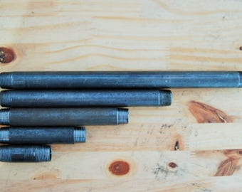 "Pipe 1 ""custom 31 to 200 cm (26 x 34 mm) black steel"