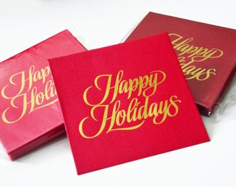 12 Happy Holiday Greetings Card / Gift / Money Envelopes