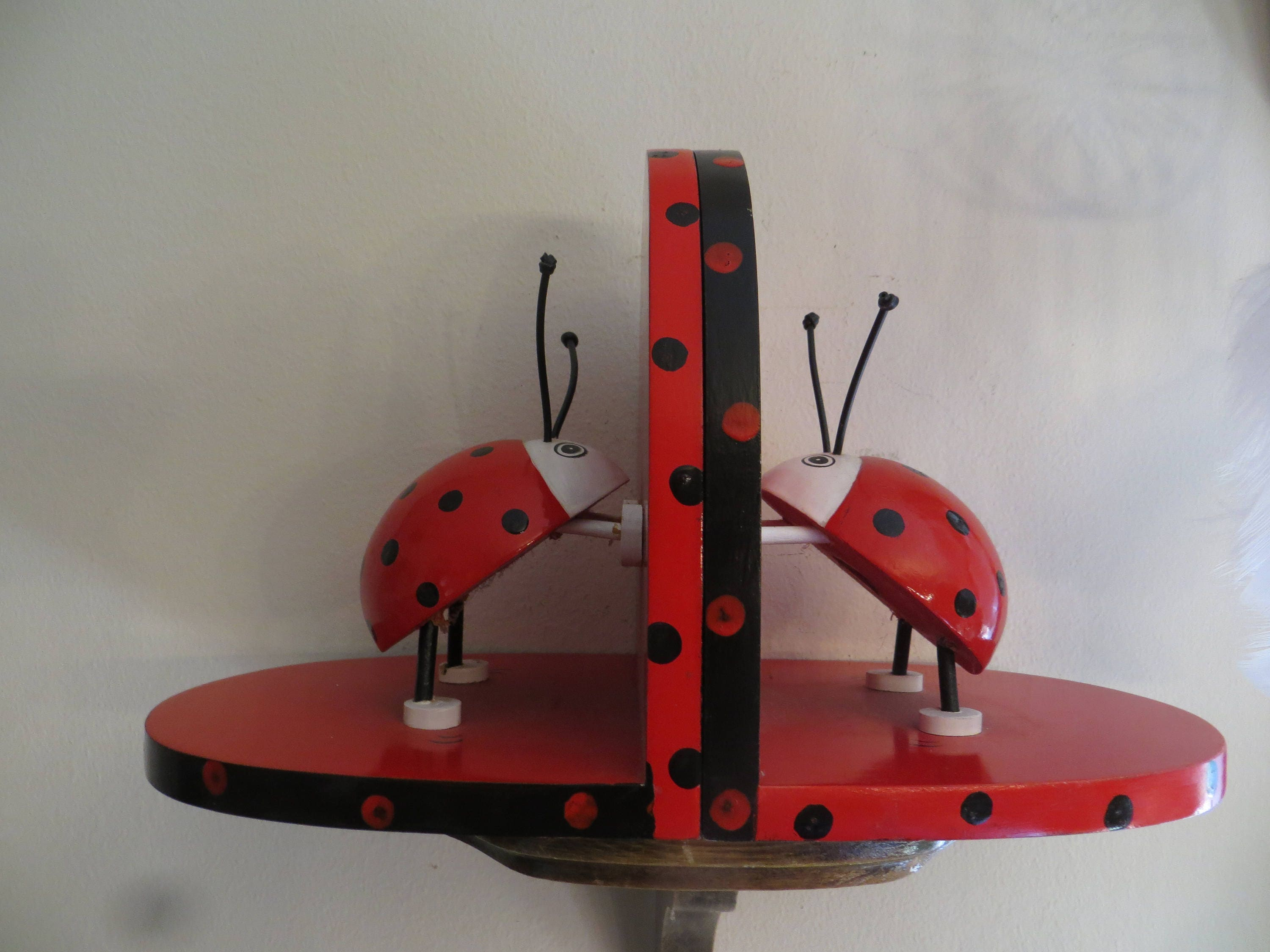 ladybug bookends book holders book ends lady bugs