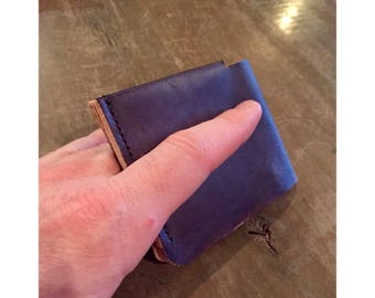 Leather Wallet, Men's Wallet, Minimalist Wallet, Slim Wallet, Bifold, Top Grain Leather