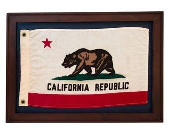 Vintage California Republic Bear Flag, Boat Flag