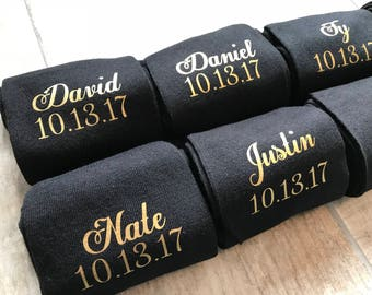 Groom socks, groomsmen socks, personalised socks, groom gift, usher socks, bestman socks, father of the bride socks, wedding gift, gift