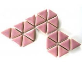 Triangle Ceramic Mosaic Tiles - Lilac - 50g (1.75 oz)