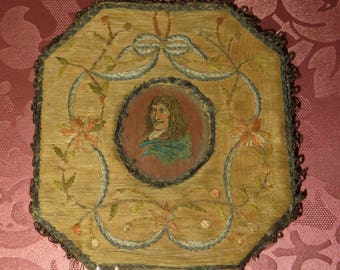 Antique French Petit Embroidery Frame Picture...1820/30s