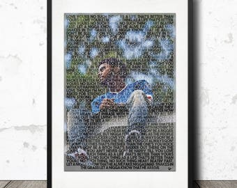 J Cole Love Yourz Forest Hills Drive Lyric Poster Print - A4 Limited Edition