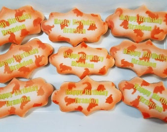 Happy Birthday Dinosaur Themed Cookies, Party Favors