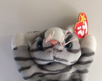 TY Beanie Baby Prance the Cat~ MWT Original Size MWT Date of Birth November 20, 1997