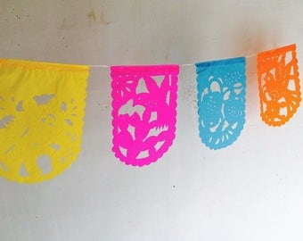 Small Papel Picado. Mexican Folk Art. Paper Banners