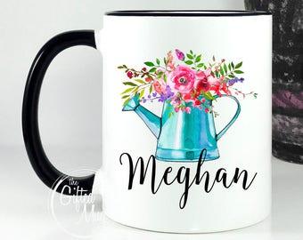 Personalized Gift For Gardener, Mug For Garden Lover, Floral Mug For Gardener, Plant Lady Mug, Plant Lover Gift, Gardening Mug, Gardener Mug