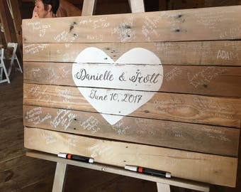 Wedding Guestbook, Guestbook Wedding Welcome Sign, Wedding Sign, Handpainted Wood Wedding Sign