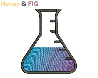 Chemistry Flask Embroidery Design-Flask Embroidery-Chemistry Embroidery Files