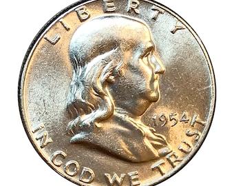 1954 P Franklin Half Dollar - Choice BU / MS / UNC