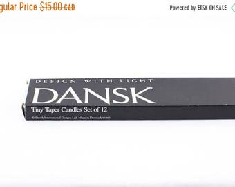 FLASH SALE Dansk Tiny Taper Candles Made in Denmark