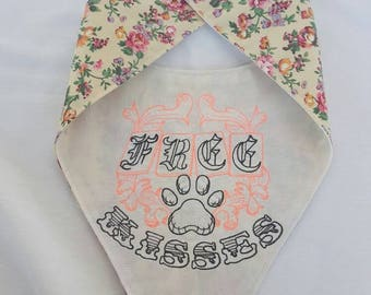 Dog Bandana / Embroidered Dog Neckchief / Designer Dog Bandana / Designer Dog Neckchief / Dog Accessories / Dog Clothing