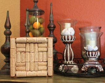 Cork Art / Decorative Cooper's Hawk Wine Cork & Cigar Box Trivet
