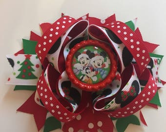 SALE Mickey & Friends Christmas 5 inch bow