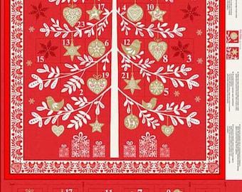 Scandi '18 Red Advent Calendar Panel