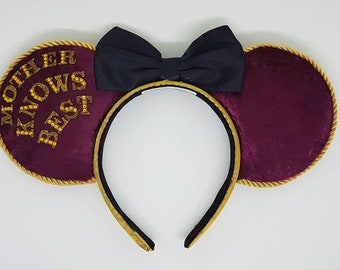 Mother Gothel Tangled Inspired Mouse Ears Headband and Bow by PrincessandPetticoat