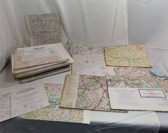 Lot of 50 US Army Command & General Staff College Training Maps, 50's-60's Vintage
