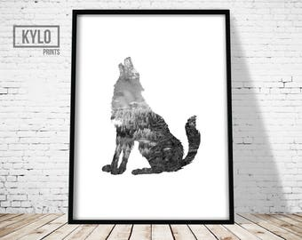 Wolf Print, Nature Art, Wolf Art, Animal Print, Nature Photography, Nature Print, Abstract Poster, Modern Print, Wanderlust , Hipster Print