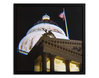 "Fine Art Photography ""Capitol"" Framed Stretched Canvas"