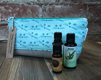 Perfect Essential Oil Pouch / Teal Essential Oil bag