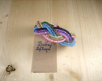 9 rows of wire beaded bracelet