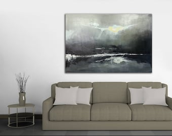 HUGE ABSTRACT CANVAS Painting,Decor48x30 In.XLarge Canavas Art Modern Art Abstract Painting Wall Decor contemporary canvas painting decor