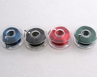 4 reels 0.35 mm copper wire red and black