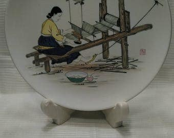 Daehan China Co. Korea Hand Painted, 1940's hand painted painted charger.