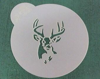 Stag Head Stencil