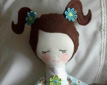 "Cloth Fabric Doll, 18"" tall"