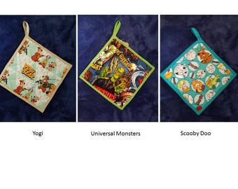 Scooby Doo, Yogi Bear, or Universal Monsters Pot Holder Hot Pad