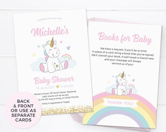 Unicorn baby shower invitations, Girl baby shower invitations PRINTABLE baby shower invites Unicorn baby sprinkle invitation Party printable