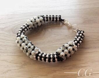 Beaded bracelet, weaving bracelet, glass beads, beaded bracelet, gift for her, gift for her, bracelets