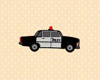 Police Car Cop Vehicle Iron On Patch Embroidered Sew On Apllique DIY Jeans Patches