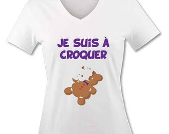 V neck women T-shirt - Cookie I am to eat