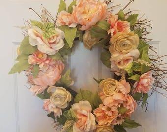 Spring wreath/ summer wreath/ holiday wreath/ housewarming gift/ housewarming wreath/ top selling wreath/ door wreath/ front door wreath
