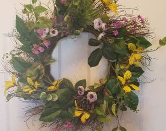 Summer wreath/ spring wreath / holiday wreath/ housewarming wreath/ top selling wreath/ door wreath/ front door wreath