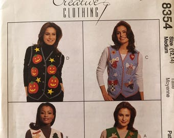 Pattern McCall   Halloween fall Creative Clothing 8354 holiday/season vests