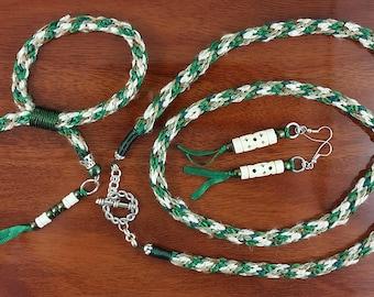 Necklace, Earrings, Bracelet: Sheep on the Hillside