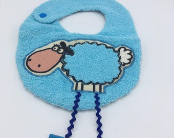 Lamb bib long legs, blue