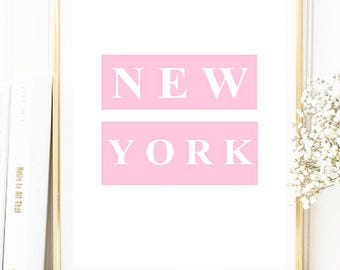 NEW YORK - pink print