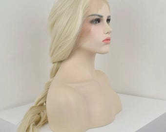 Platinum Blonde - heat resistant synthetic lace front wig - Cosplay/Everyday wear/Special occasions