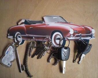 key wall VW KARMANN GHIA, hanging keys wall vintage personalized